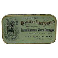 Resilient Main Springs - Elgin National Watch Company Tin