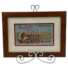 Vintage Fuess-Fischer Co. Christmas Advertisement