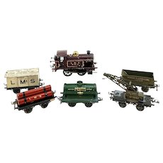 Hornby No. 1 Locomotive LMS Maroon Livery c.1925 & Various Car Attachments