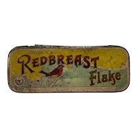Vintage Ogden's Redbreast Flake Tobacco Tin