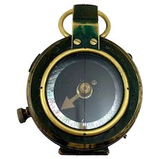 WW1 1917 British Army Officer's Compass Verner's Patent MK VIII by French Ltd