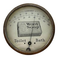 Vintage Wool Soap Advertising Thermometer