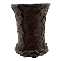 Redware Molded Relief Beaker/Cup c. 1880's