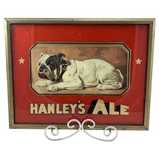 Hanley's Ale Reverse on Glass Sign c.1910