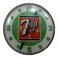 7up Lighted Advertising PAM Clock