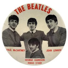 Beatles Large Pin Back Button