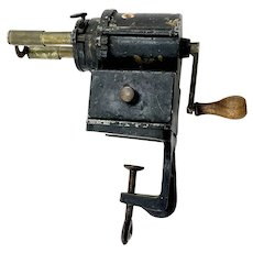 Antique Courant Cast Iron Pencil Sharpener - German c. 1890's
