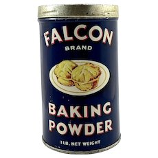 Vintage Falcon Brand Baking Powder Tin