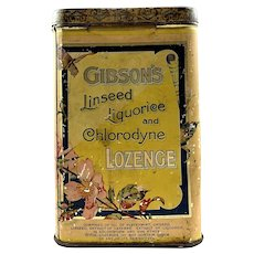 Gibson's Store Display Lozenge Tin c. 1900's