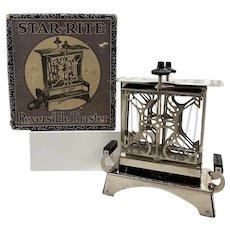 1920's Star-Rite Reversible Toaster w/ Original Box
