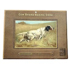 Cow Brand Baking Soda Store Counter Advertising Display - English Setter