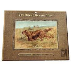 Cow Brand Baking Soda Store Counter Advertising Display -Irish Setter