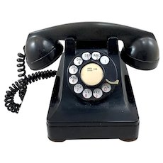 Vintage Northern Electric Rotary Dial Desk Phone
