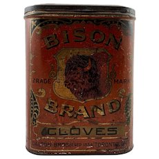 Rare Bison Brand Cloves Store Display Tin