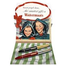 Waterman's Pen Cardboard Store Display
