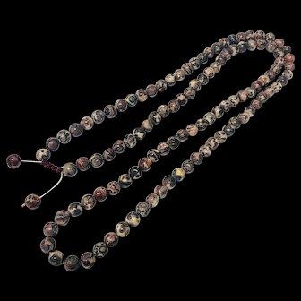 Rare Endless Rhodochrosite 108 Beads Adjustable Necklace