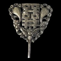 Chinese Antique Qing Dynasty Silver Hair Pin