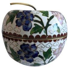 Beautiful Vintage Cloisonné Apple Bowl Box