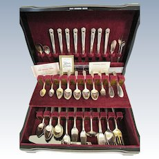 114 Pieces Rogers Bros Silver Plate Flatware ETERNALLY YOURS 1941 Placesetting for 8 Silverware