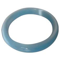 Powder Blue Faceted Glass Bangle Vintage
