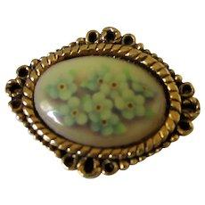 Camco Forget Me Not Flowered Brooch Vintage