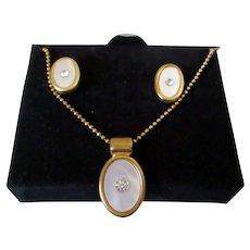 Avon Necklace Earring Set Vintage