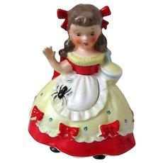 Little Miss Muffet Piggy Bank Napco 1956