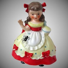 Little Miss Muffet Piggy Bank Napco 1956