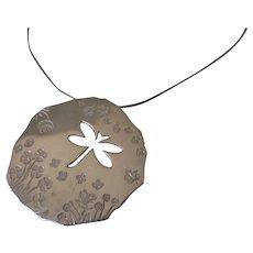 Birks Sterling Silver Dragonfly Necklace Vintage