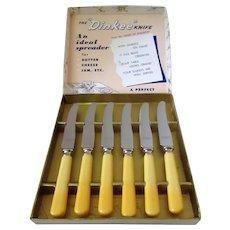 Dinkee Knives Bakelite Handles NIB Made in Canada Vintage