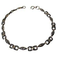 Sterling Silver Marcasite Bracelet Vintage