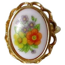 Avon French Flowers Ring Vintage