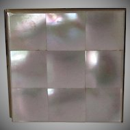 Mother of Pearl Pocket Size Photo Frame Vintage