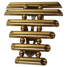 Unusual Brass Ladder Style Tube Dress Clip Vintage
