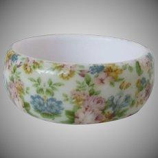 Soft Colored Flowered Bangle Vintage