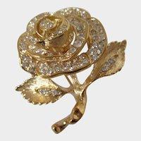 Single Rose Flower Roman Brooch Vintage