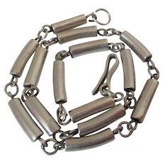 Taxco Mexico Cylindrical Tube Choker Necklace Vintage