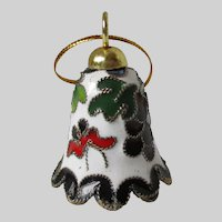 Cloisonne Christmas Bell Decoration Vintage