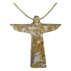 Sobral Resin Christ the Redeemer Necklace NWT