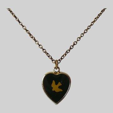 Religious Reversible Pendant Necklace Vintage