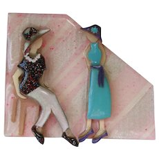 Woman Pins by Lucinda Brooch Vintage