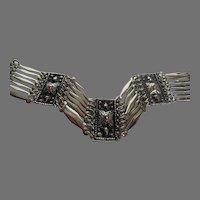 Sterling Taxco Four Panel Bracelet Vintage