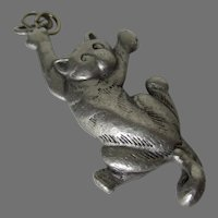 Jonette Jewelry JJ Pewter Hang in There Cat Pendant Vintage