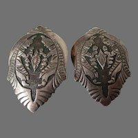 Native American Ceremonial Dancer Earrings Vintage