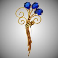 Bouquet of Blue Balloons GF Brooch Vintage