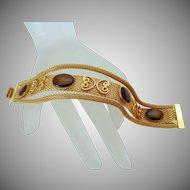 Celebrity NY Mesh Brown Stones Bracelet Vintage