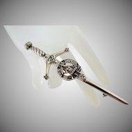 Scottish Traditional Clan Kilt Sword Pin Vintage