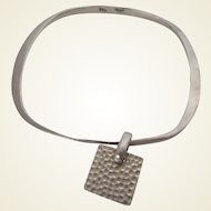 Square Rounded Corners 925 Silver with Tag Bangle Vintage