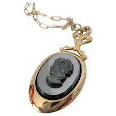 Sarah Coventry Evening Profile Cameo Necklace Vintage