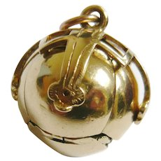 Early 20th Century 9ct Gold Masonic Ball Charm Pendant